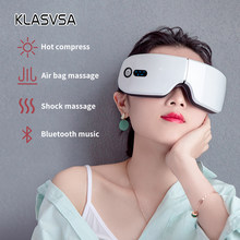 Masseur facial intelligent pour les yeux avec Bluetooth,rechargeable, pliable, musique, pression d'air, chauffage, relaxation,
