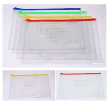 6 размеры ПВХ молния сумка прозрачный файл сумка информация сумка водонепроницаемый сумка школа студенты канцелярские товары офис принадлежности