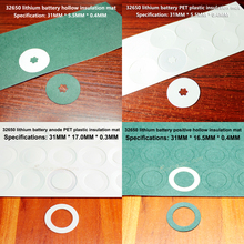 50pcs/lot 32650 lithium battery hollow insulating gasket 32700 meson iron phosphate mat