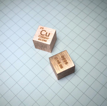 10x10x10mm metalowe kostki elementy chemiczne elementy okresowe elementy fizyczne dekoracja kostka kolekcja prezent miedź kostka 1 Cal Cub tanie i dobre opinie CN (pochodzenie) 8 lat 29 copper cube