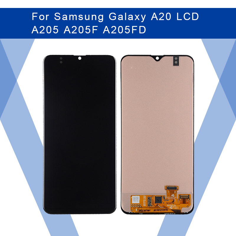 For <font><b>SAMSUNG</b></font> <font><b>Galaxy</b></font> <font><b>A20</b></font> A205 A205F A205FD <font><b>LCD</b></font> AMOLED Display <font><b>Screen</b></font>+Touch Panel Digitizer Assembly For <font><b>SAMSUNG</b></font> Display Original image