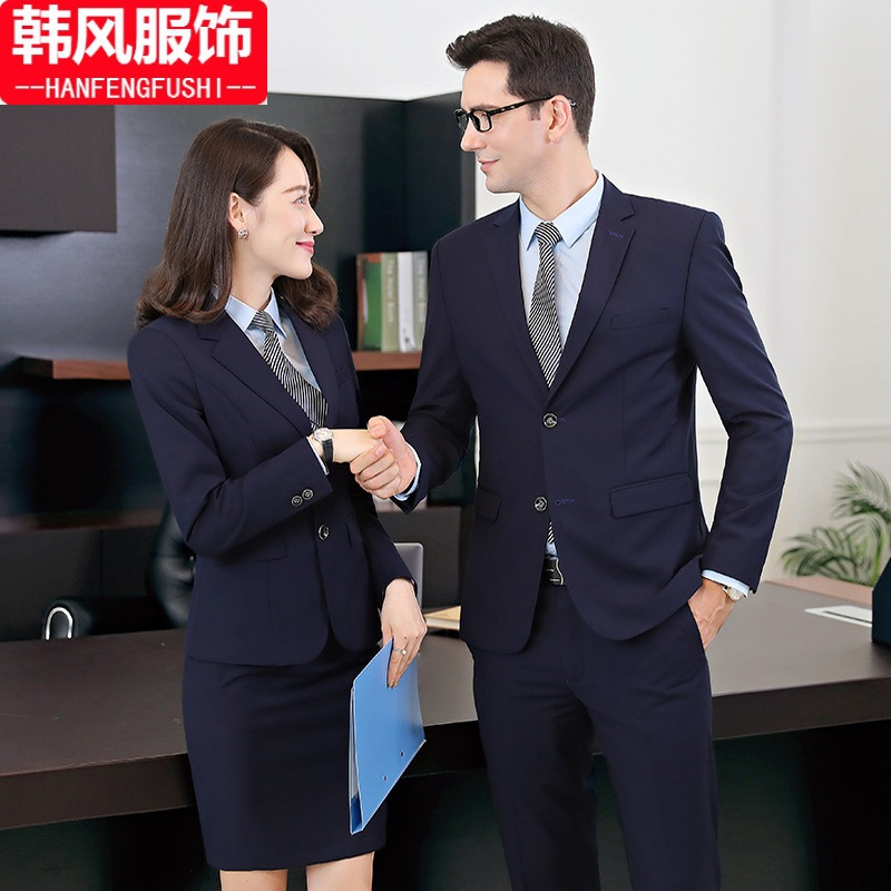 Wear Men And Women Celebrity Style Work Clothes Business Suit Formal Wear Set Suit Vest Suit Spring And Summer Bank Workwear