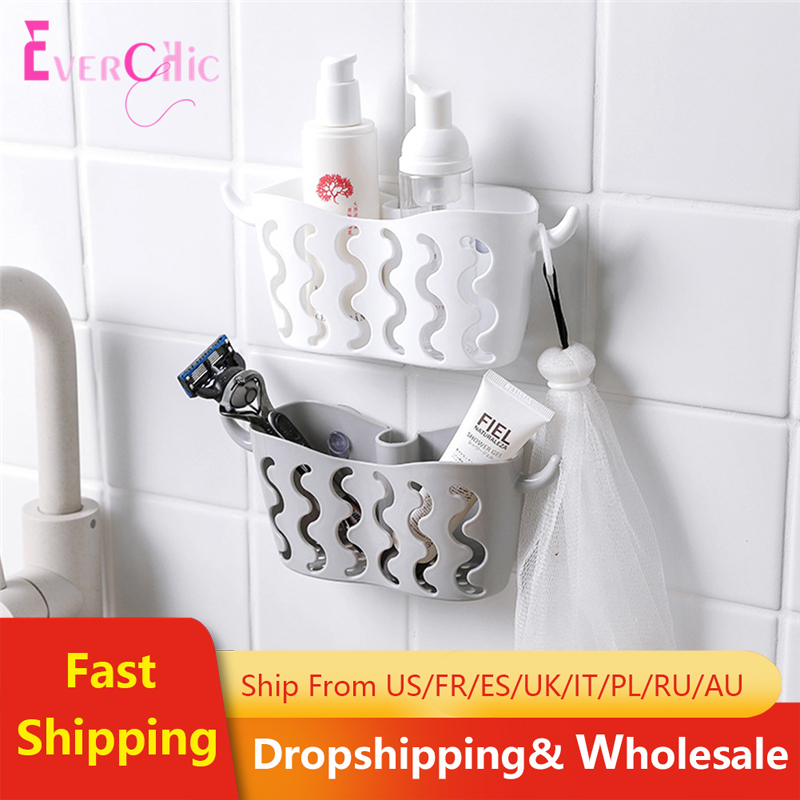 Storage Hanging Basket With Suction Cup Faucet Dish Washing Sponge Drain Basket Holder For Bathroom Kitchen Storage Shelf Rack