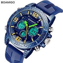 Boamigo новые синие мужские часы водонепроницаемые для плавания