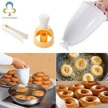 1 ADET Donut yapma makinesi Dağıtıcı Donut makinesi Artefakt Kızartma Çörek Kalıp Arapça Waffle Donut Kek Kalıbı Mutfak Pasta Aracı ZXH