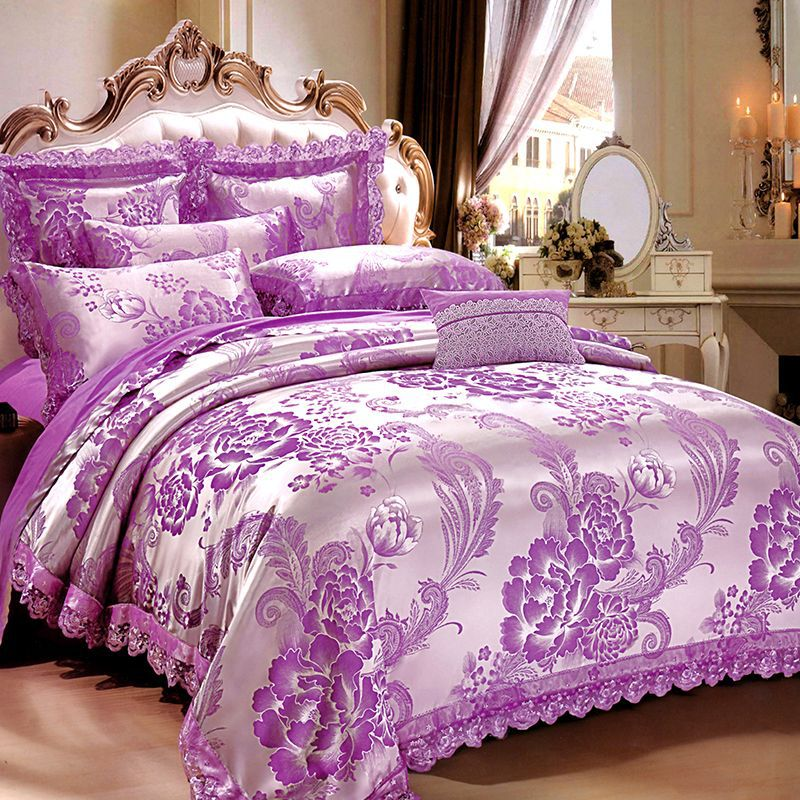 JT002 Atrium European Style Cotton Four-piece Jacquard Beddings Hotel Bedding Article Wholesale Manufacturers Supply Of Goods A