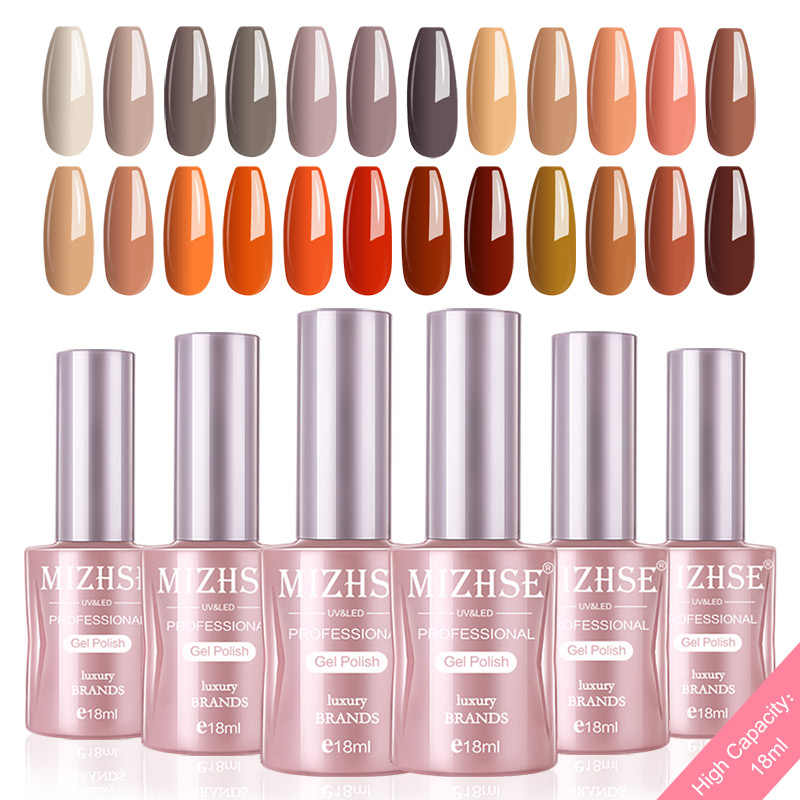 MIZHSE Gel Nagellak Set Voor Manicure Kit 6 stks/partij UV Kleuren Semi Permanente Hybrid Nail Art Gel Lak UV LED Lamp Ontwerp