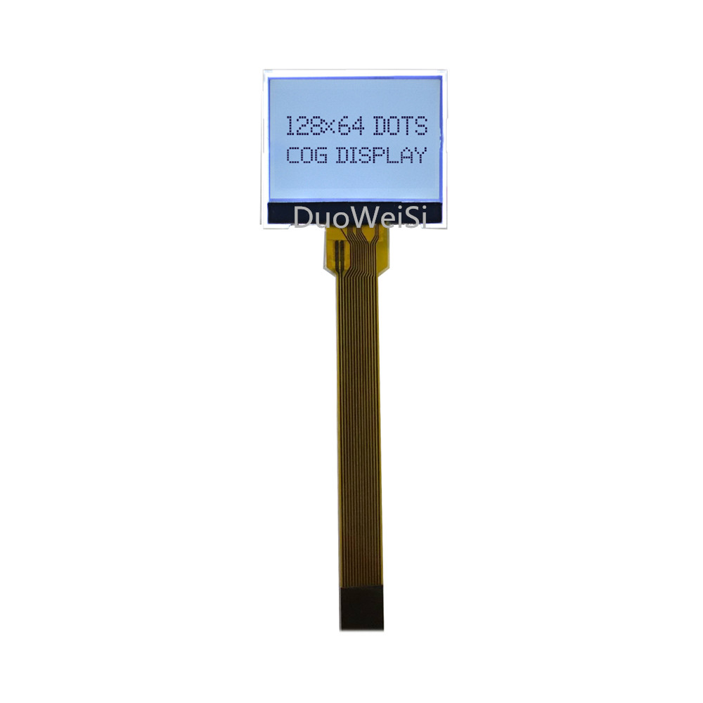 1.3 Inch COG Dot Matrix Screen Full Transparent Display Long Cable UC1701X Small Size 128*64 LCD Module