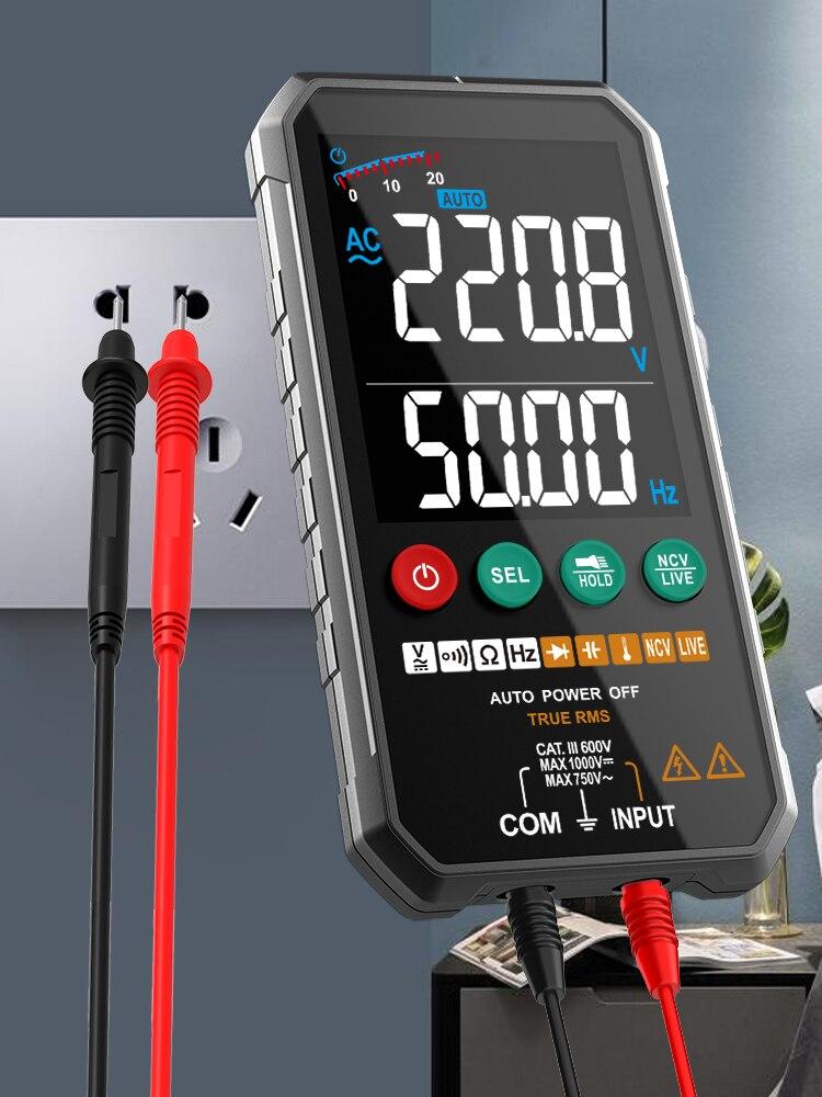 FUYI Professional High Precise 6000 counts 1000V AC DC Digital MultimeterOhm Hz NCV Live ℃ μF Duty Multimetro Voltage Meter