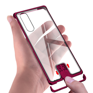 Image 2 - Shockproof Cases For Sony Xperia 5 Luxury Aluminum Metal Case For Sony Xperia 5 Thin Hard Tempered Glass Cover For Sony Xperia5