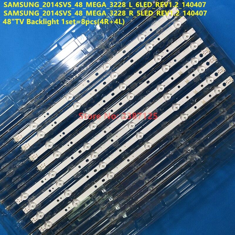 1Kit =8pcs DMGE-480SMA SAMSUNG_2014SVS_48_MEGA_3228_L_6LED_REV1.2 _140407 SAMSUNG_2014SVS_48_MEGA_3228_R_5LED_REV1.2_140407