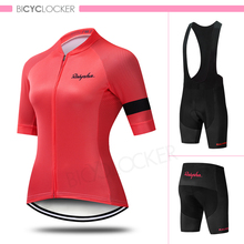 Cycling Clothing Women Bicycle Short Sleeve Jersey Set Female Summer MTB Ropa Ciclismo Laday Casual Team Wear Road Bike Gel Pad