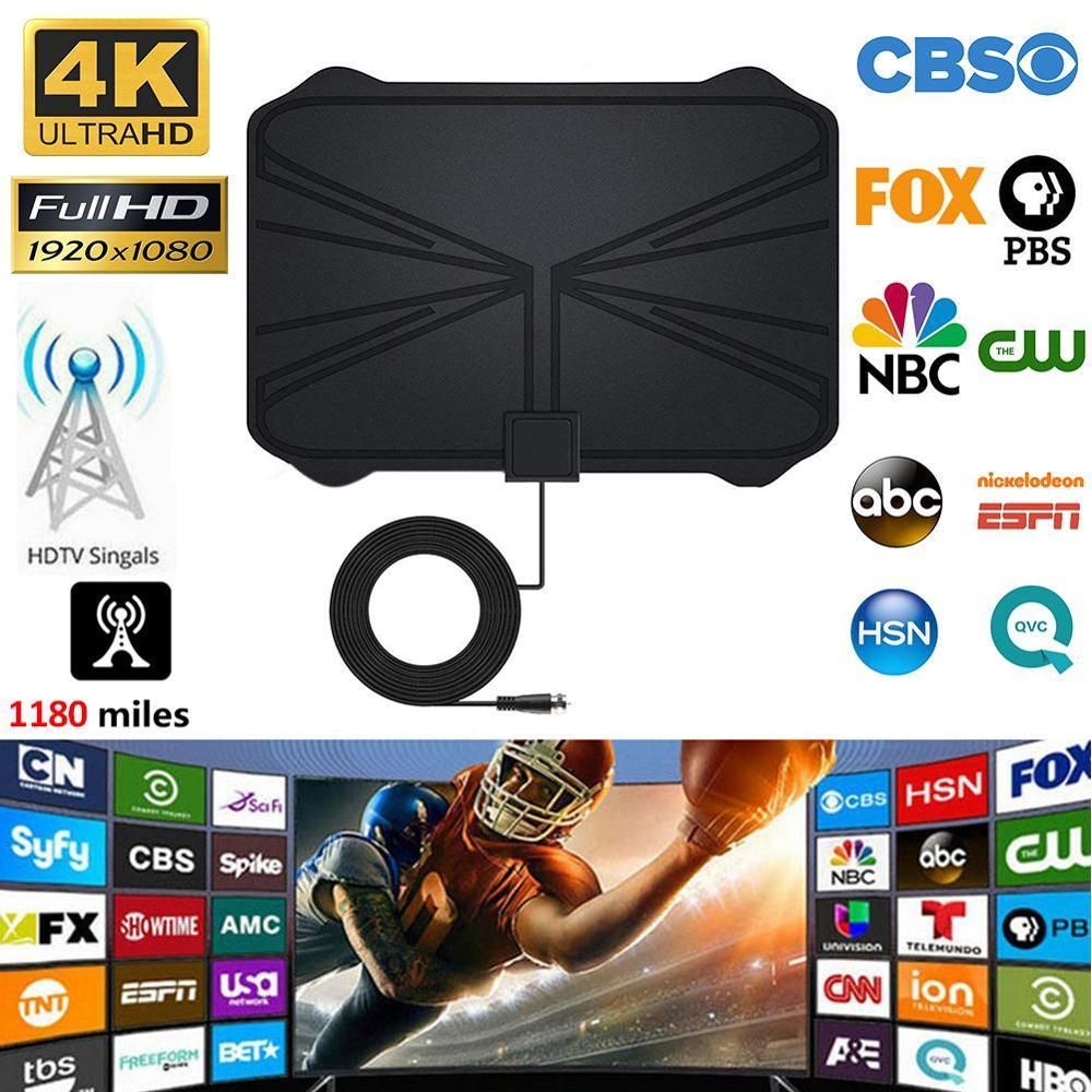1180 Miles 4K Digital HDTV Indoor TV Antenna With Amplifier Signal Booster TV Radius Surf Fox Antena TV Tdt Hqclear Tv Antena