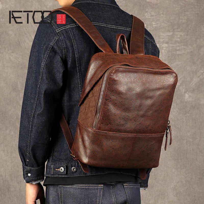 BJYL جلد الرجال حقيبة كتف الأولى طبقة جلدية حقيبة حاسوب عارضة الاتجاه السفر حقيبة شخصية فلاش نقطة جلد backpa
