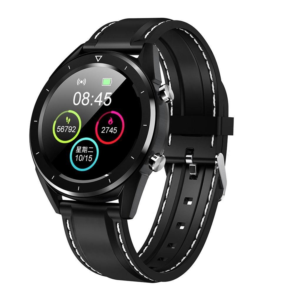 DT28 Smart Watch Color Screen Step Ecg Heart Rate Blood Oxygen Movement Track Leather/Steel Strap Smart Bracelet