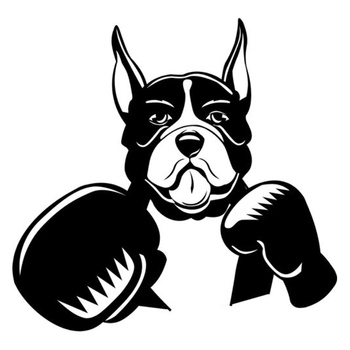 Car Sticker Boxer Pet Dog Fashion Car Sticker Black/silver PVC Decal 16.8cm * 16.2cm image