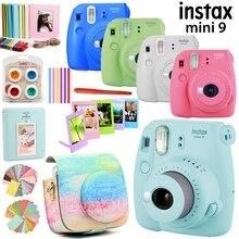 Fujifilm Instax Mini 9 камера только/с 50 листами Белая Мини пленка фото/13 в 1 комплект чехол сумка + наклейка + другие аксессуары