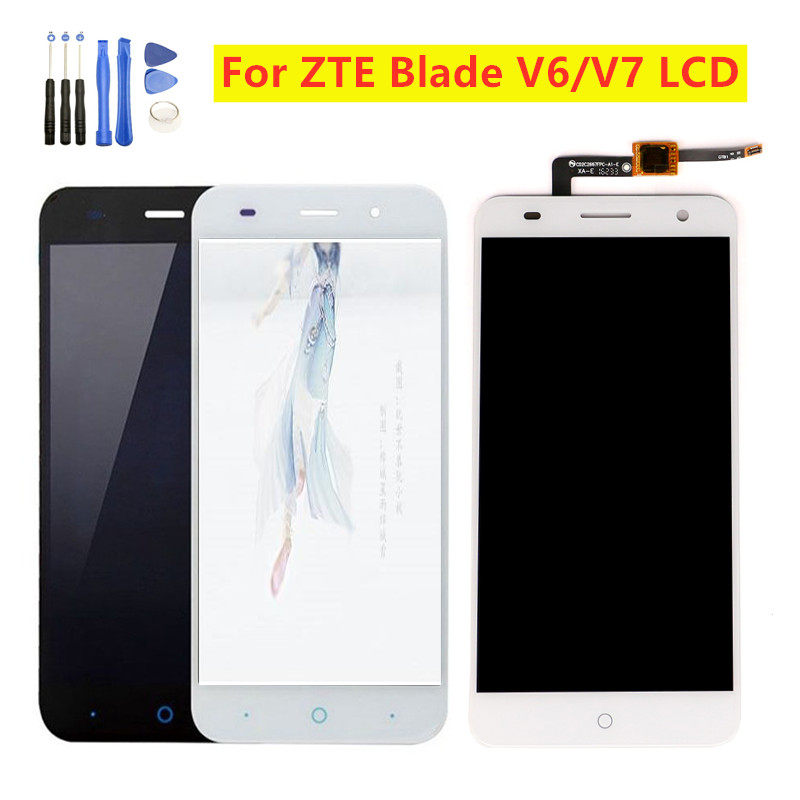 5.0 For ZTE Blade Z7 X7 V6 LCD With Frame D6 T660 T663 Screen Replacement For ZTE Blade V6 LCD Display Touch Screen Assembly image
