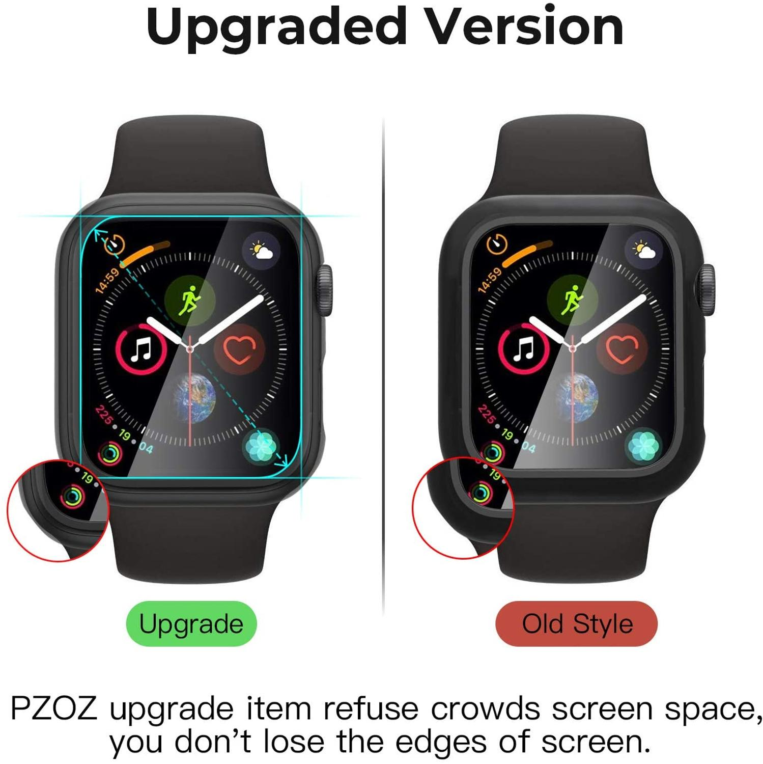 Compatible Apple Watch Series 6 SE Case 44mm 40mm Glass Film With Screen Protector Full Coverage For Iwatch 6 5 4 3 2 42mm 38mm 5