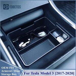 Image 3 - 車の中央コンソールテスラモデル3 2017 2018 2019 2020インテリアアクセサリー収納収納ボックス