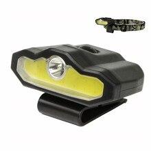 цена на Super Bright USB Rechargeable COB Led Headlamps Flashlight LED Cap Clip Light for Adults Outdoor,Camping,Running,Hiking,Fishing