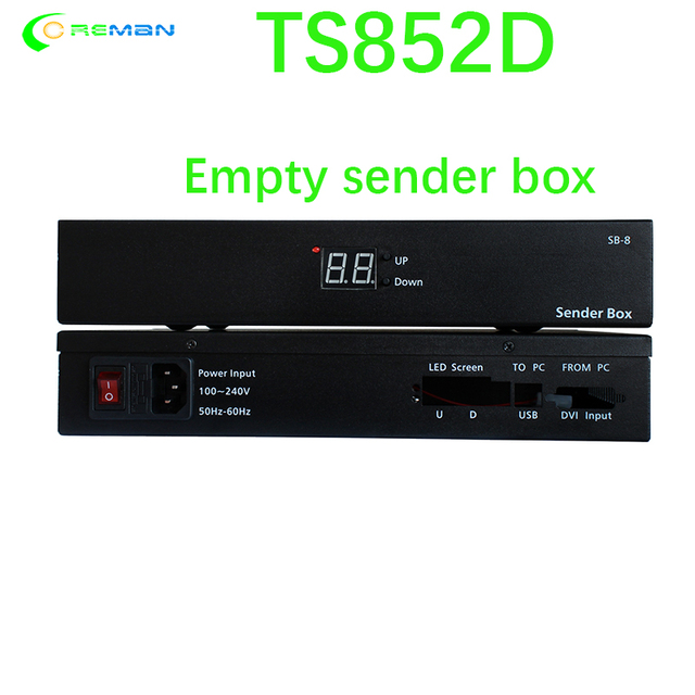 linsn indoor outdoor led display control system ts852d led screen sending box for linsn sending card