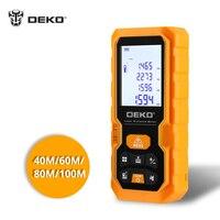 Deko Handheld Laser Afstand Meter Mini Laser Afstandsmeter Laser Tape Afstandsmeter Diastimeter Meten 40M 60M 80M 100M