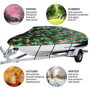 Image 2 - Cubierta de barco de protección del clima de la cubierta completa protección solar protección a prueba de polvo resistente a los arañazos Universal para barco accesorios 11 22ft