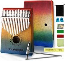 Protable17 Keys Kalimba Thumb Piano Made By Single Board High-Quality Wood Mahogany Body Musical Instrument