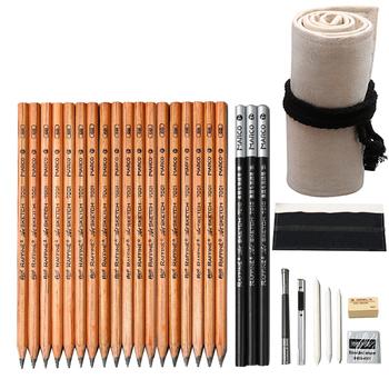 36 sztuk szkic zestaw dla początkujących studentów z dorosłych ręcznie malowane malarstwo profesjonalne narzędzia szkic pełny zestaw dostaw sztuki tanie i dobre opinie TouchFIVE CN (pochodzenie) Drewna Standardowy ołówki