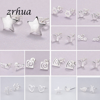 2019 Newest 925 Silver Needle Womens Jewelry Fashion Cute Chic Stud Earrings for School Girls Kids Lady Birthday Accessories