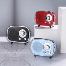 Portable Mini Wireless Speaker Player USB Radio FM Bluetooth Simple Fashion Retro