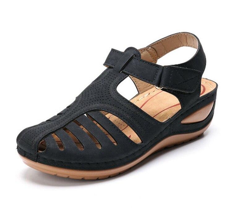 vintage casual costura sapatos femininos senhoras plataforma retro sandalias mais tamanho
