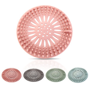 1Pcs Bathtub Supplies Drain Strainer Portable Silicone Sink Filter Hair Stopper Kitchen Accessories Bathroom Shower Drain Covers