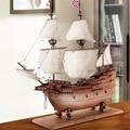 Simulation Wooden Sailboat Model Decoration Rosewood Mayflower Solid Wood Craft Boat Decoration Upscale Hotel Decoration