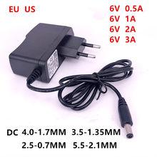 Carregador adaptador de fonte de alimentação, ac 110-240v para dc 6 v, 0,5a 1a 2a 3a v volt para monitor de pressão arterial omron m2 m3