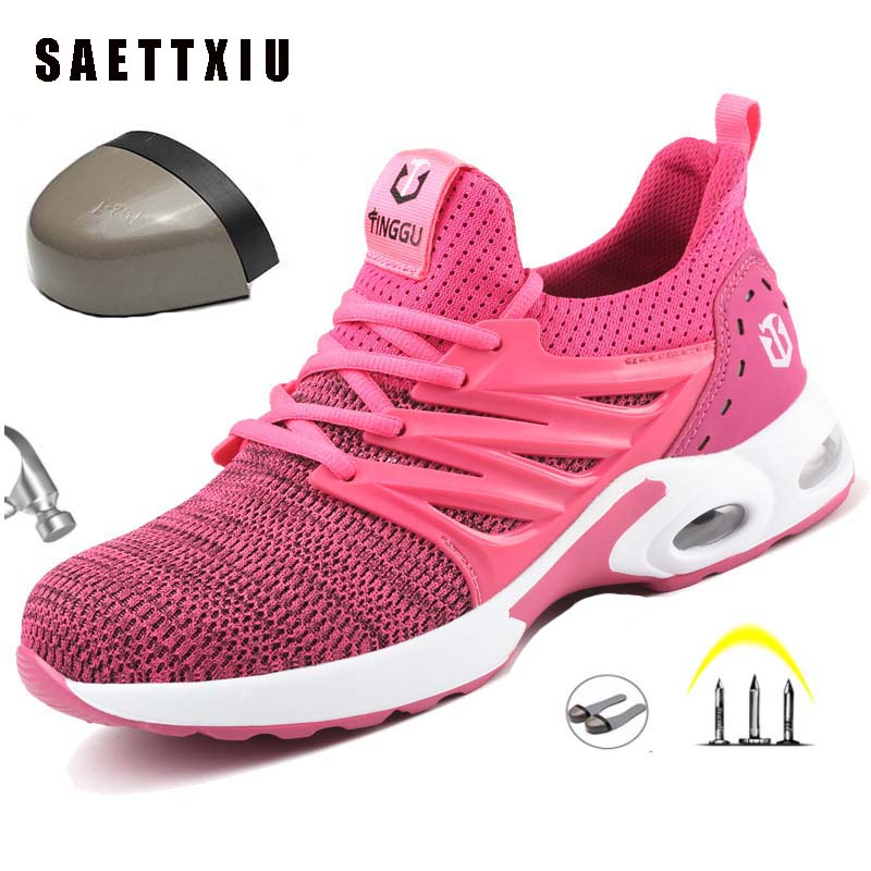 Shoes Sneakers Safety-Boots Steel-Head Indestructible Breathable Women Anti-Puncture