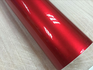 Image 4 - Premium quality 10/20/30/40/50/60X152CM/Lot Red Metallic Glossy Glitter Wrap Sticker for car wraps Glossy Candy Gold Vinyl Film