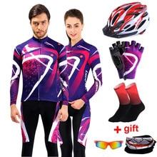 цена на Long Sleeve Cycling Jersey Sets Men 2020 Team Pro Bike Clothing Cycle Mtb Wear Sports Bicycle Clothes Autumn Women Cycling Kit