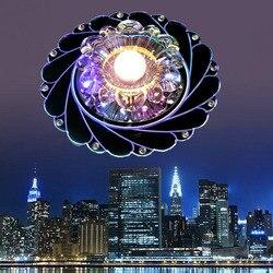 Mabor kryształowy żyrandol LED lampa sufitowa lampa kolorowa kryształowy żyrandol oświetlenie wiszące LED do kuchni salon|Oświetlenie sufitowe|   -