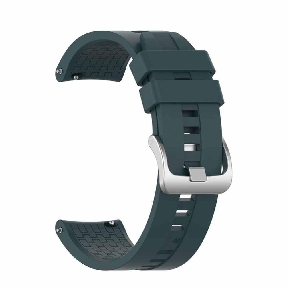 حزام (استيك) ساعة شريط للرسغ ل سماعة هواوي GT2 46 مللي متر استبدال الأشرطة الرياضية قيود من السيليكون ووتش اكسسوارات