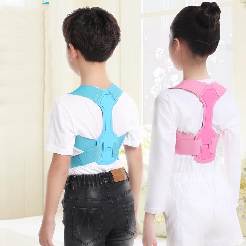 Adjustable Back Brace Corset Spine Support Belt Children Brace Support Belt Spine Back Lumbar Posture Correction