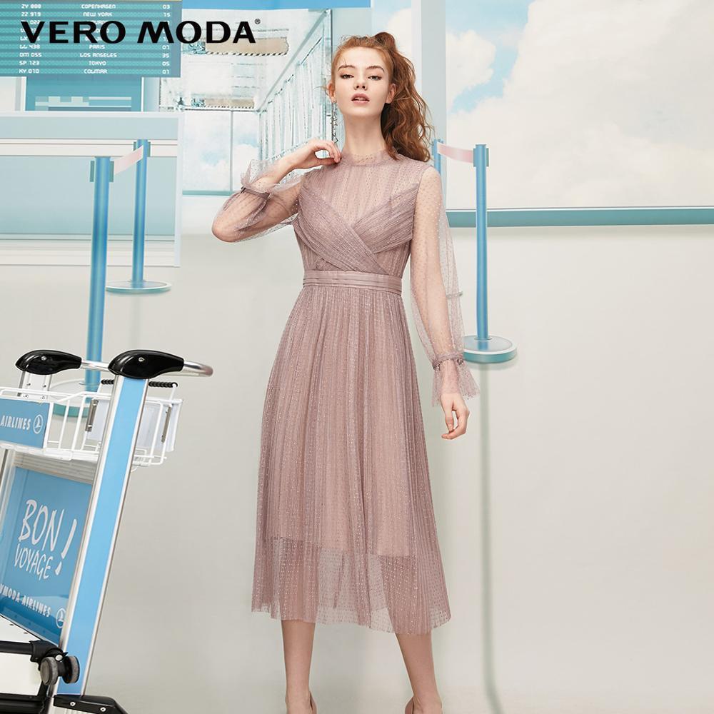 Vero Moda Women's Vintage Laced See-through Party Dress | 31937C553