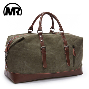 MARKROYAL Fashion Canvas Travel Bag Leather Large Capacity Vintage Luggage Bags Casual Vintage Simple Tote Bag Dropshipping(China)