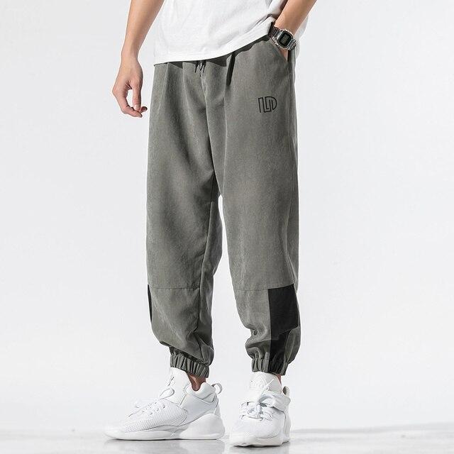 Nuevos pantalones informales para hombre, pantalones holgados 3