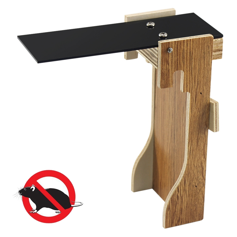 ABKT-Mousetrap Trap Wooden Seesaw Rodent Reusable Automatic Continuous Mouse Pest Rodent Control For Home