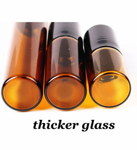 Image 5 - 50pcs/lot 1ml 2ml 3ml 5ml 10ml Clear / Amber Glass Roll on Bottle with Glass/Metal Ball Thin Glass Roller Essential Oil Vials
