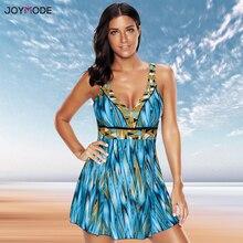 JOYMODE One Piece Swim Skirt Plus Size suit Women Kikini Bujer 2019 Brand Sexy Bathing Suit Cover Ups Beach wear Dress