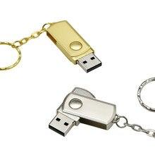 Memoria USB portátil giratoria, Pendrive de 256GB, 64GB, 32 GB, 4GB, 8GB, 32 GB, 16GB, 128GB, 64GB, 256GB con llavero, Mini regalo
