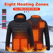 Electric Heated Cotton Outdoor Coat USB Electric Heating Hooded Jackets Vest Down Winter Thermal Warmer Outdoor Jacket